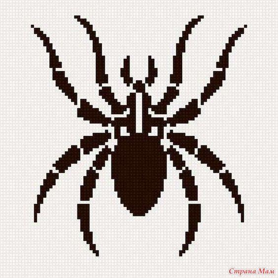 pixel art araignées