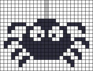 pixel art araignees gros yeux